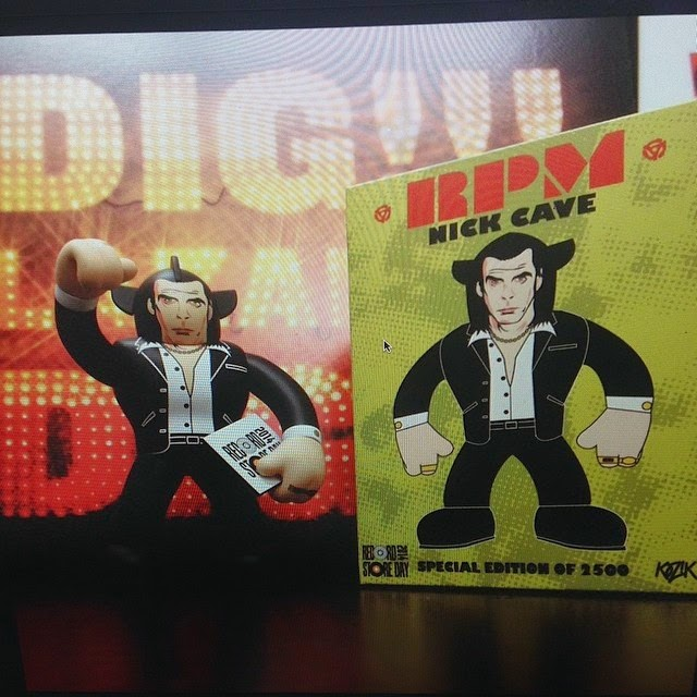 Record Store Day 2014 Exclusive Nick Cave RPM Vinyl Figure & Packaging by Frank Kozik