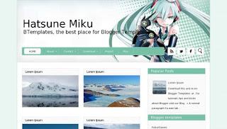 Hatsune Miku Blogger Template