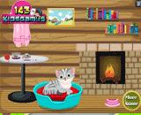 لعبة تنظيف القطة