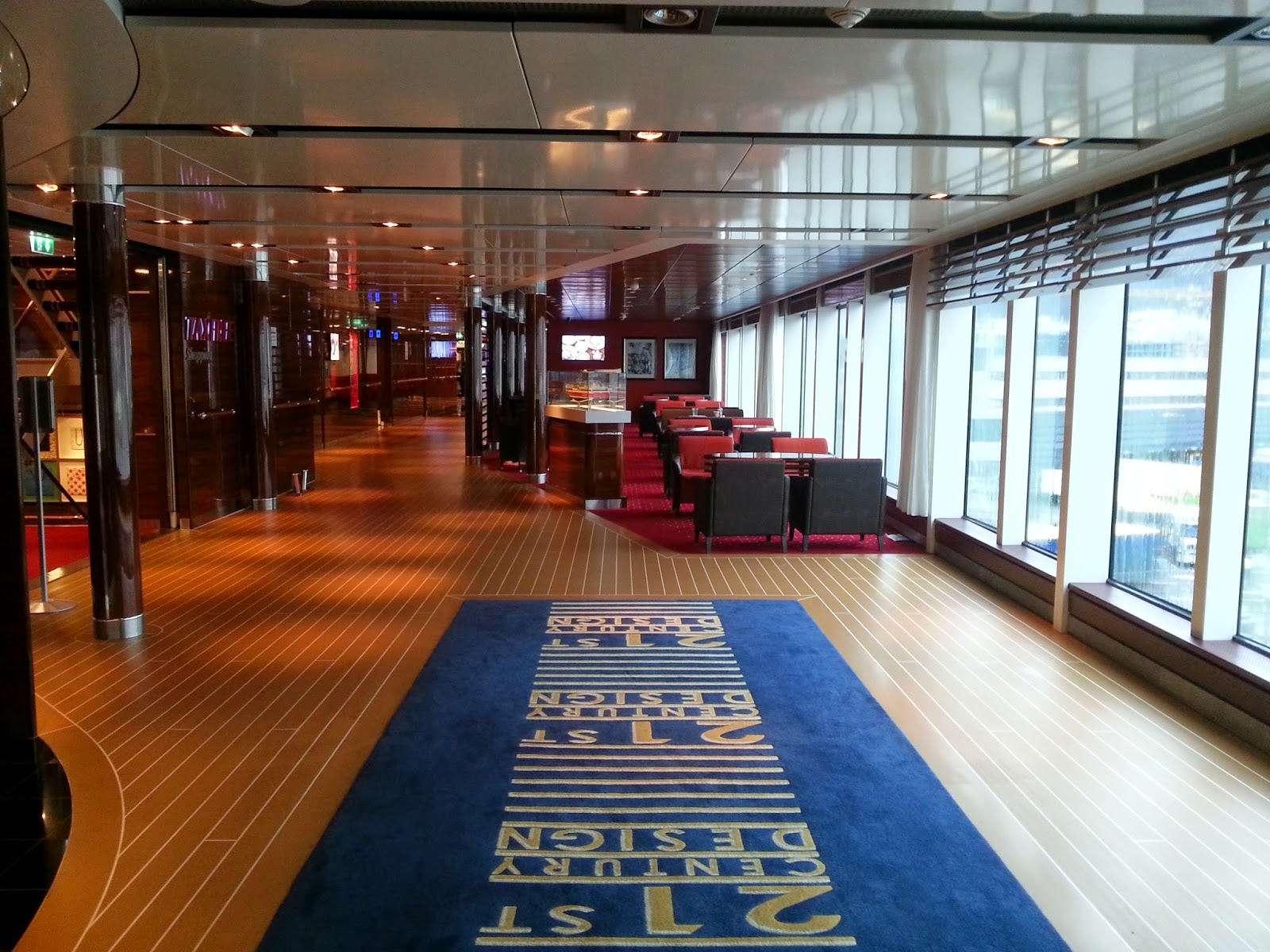 MS Stavangerfjord Bergensfjord Cruise Ferry - Interior Seating Area