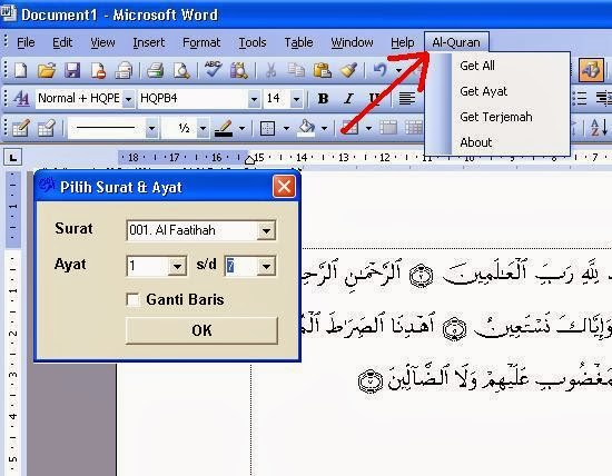 word for word quran