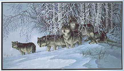 Что означает вышивка волк
