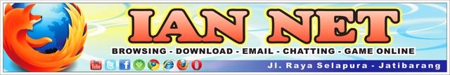 spanduk untuk warnet ian net