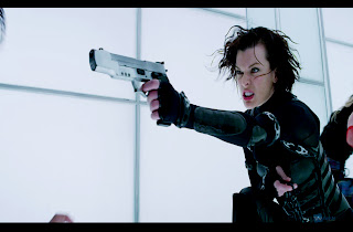 Resident Evil Retribution Alice Shooting Screenshot HD Wallpaper