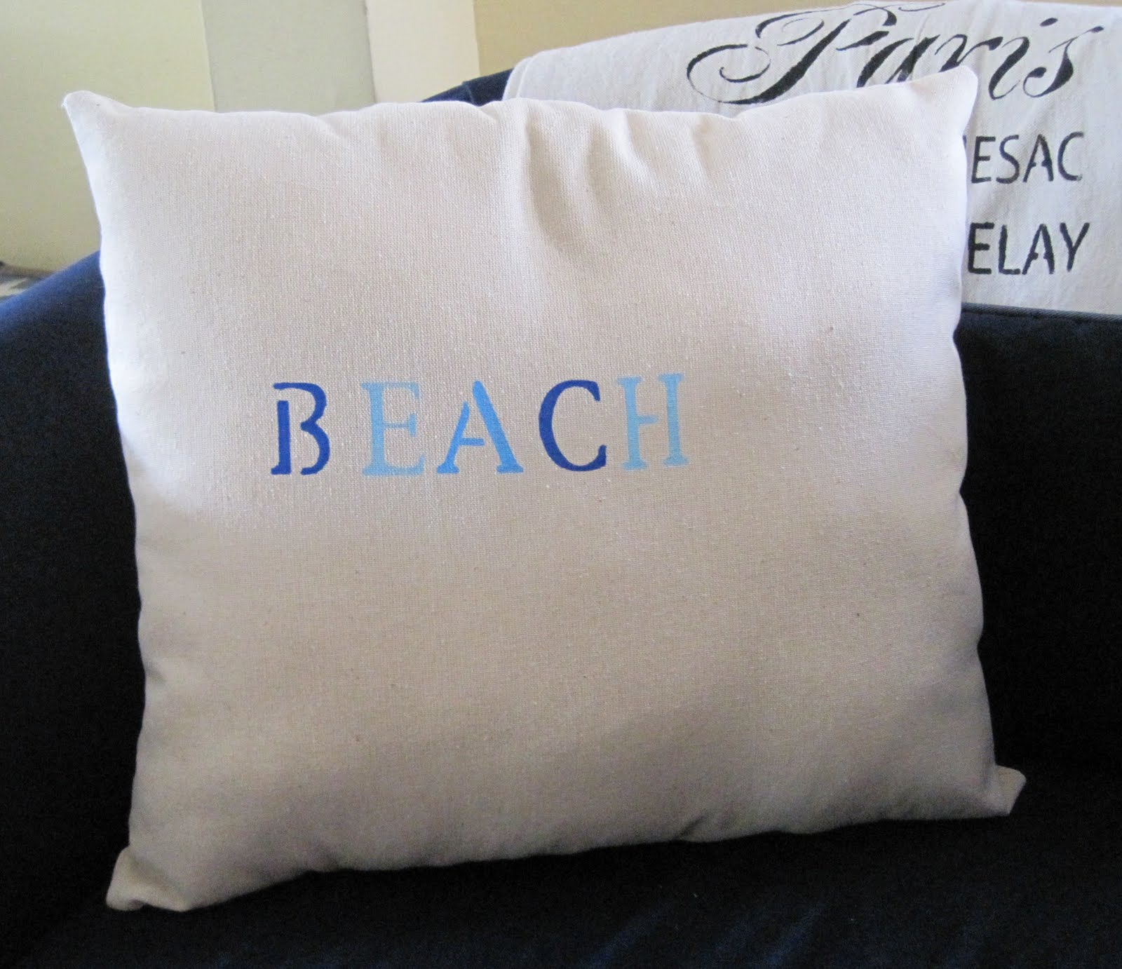 pillow and pillows throw beach sea sew sand diy homegrown