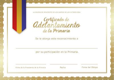 Certificado de Avance de la Primaria - Conexión SUD