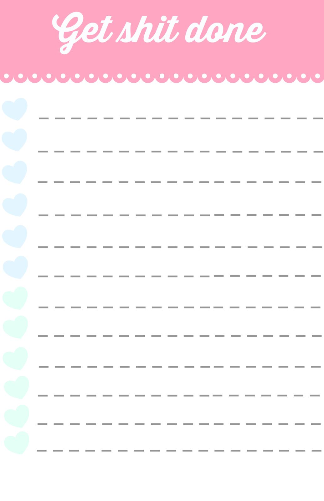 girls guide to life ♡: Printable to-do lists ♡