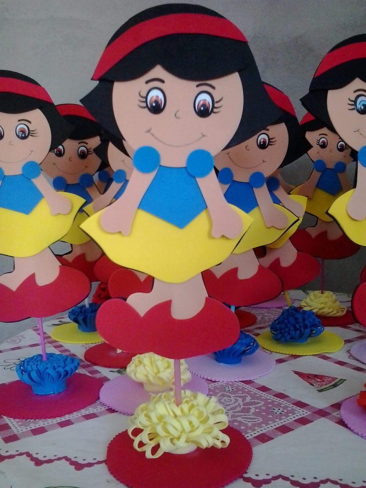 Ana zilma arte em e v a centro de mesa festa infantil - Centro de mesa infantil ...
