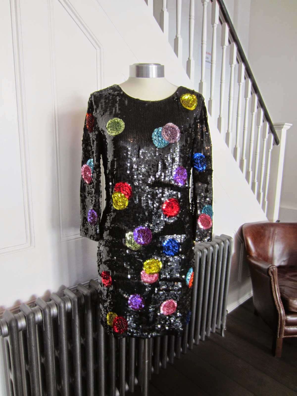D&G Black/Multicoloured Sequin Dress