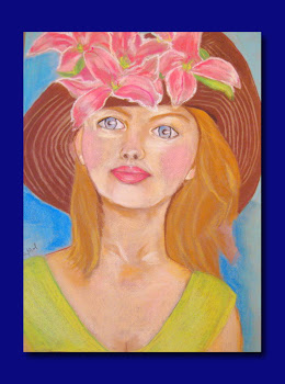 Woman Portrait. Print Of Original Soft Pastels Painting.