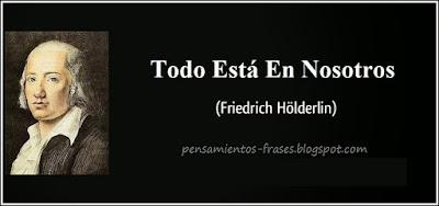frase de Friedrich Hölderlin
