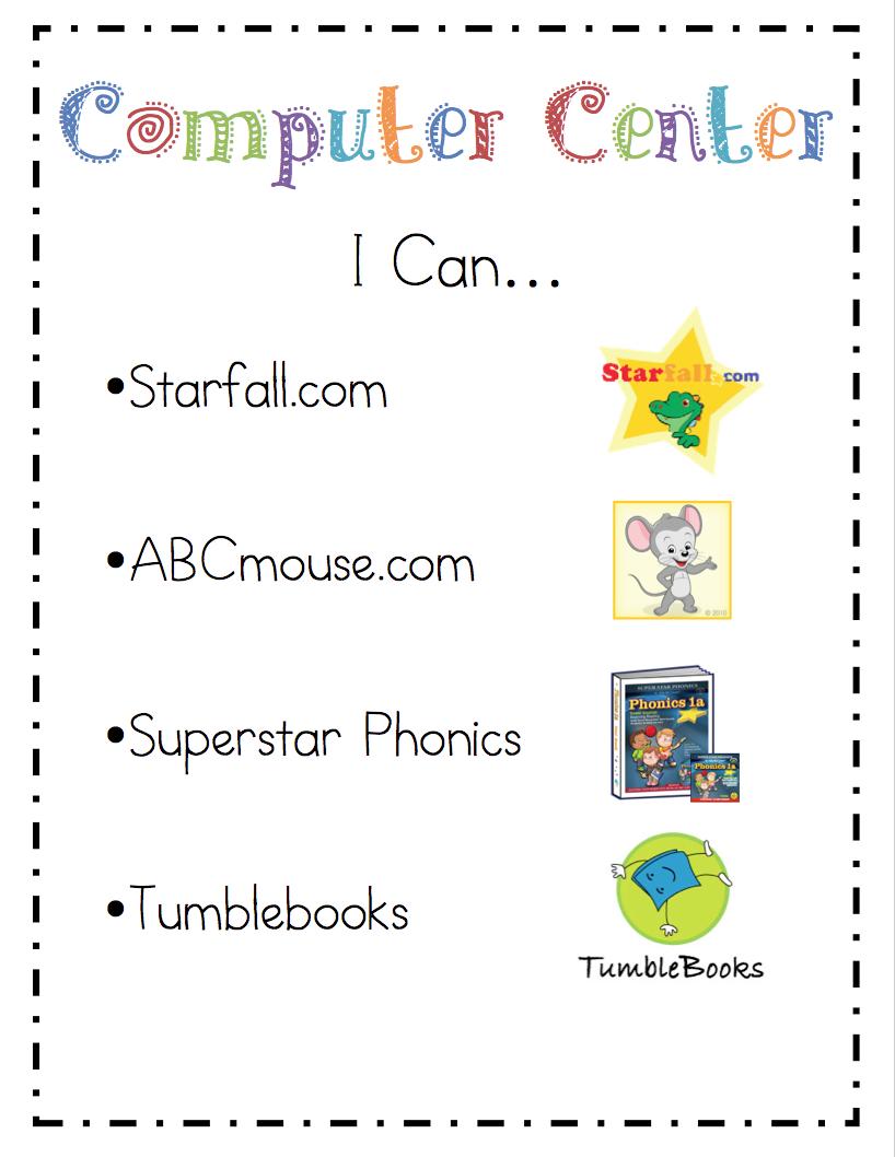 mrs riccas kindergarten literacy center quoti canquot cards