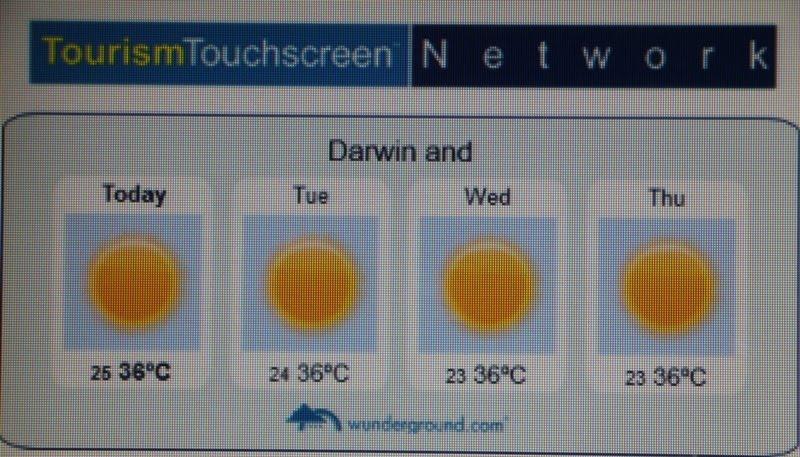 Weersvooruitzichten in Darwin