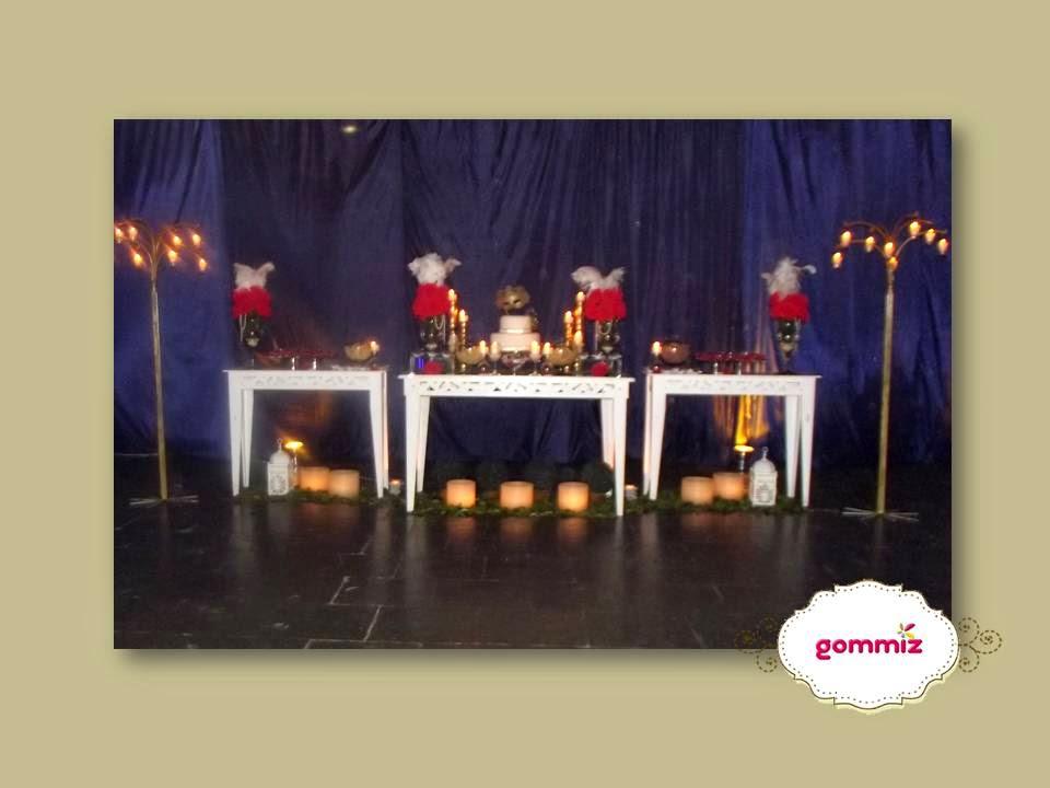 festa baile de máscaras gommiz mesa