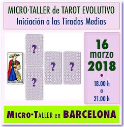5 plazas DISPONIBLES * * * * * MICRO·TALLER de TAROT en BARCELONA