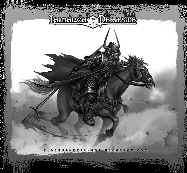"""Ilustración """"Samurai de Endor"""" realizada por ªRU-MOR para el juego de rol Aventuras en la Marca del Este."""
