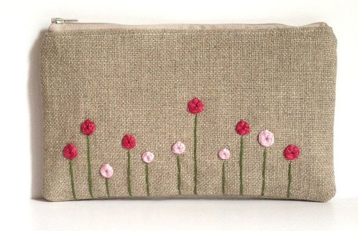 hand embroidered bag, clutch  bag, burlap bag, hessian bag, burlap clutch bag, hessian clutch bag, burlap embroidery
