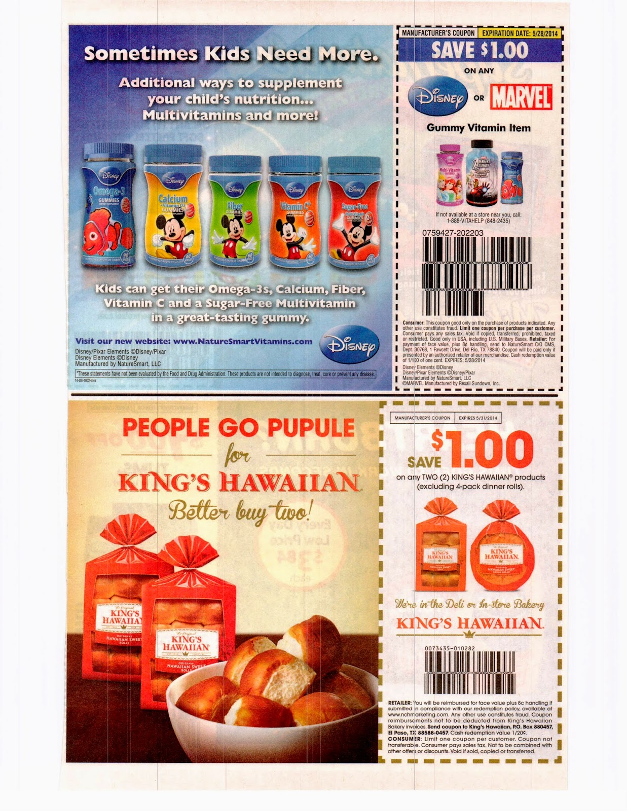Whole coupon inserts california