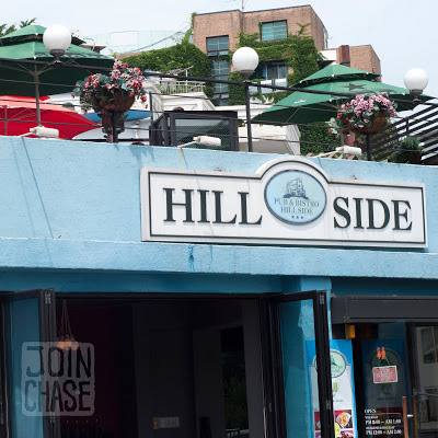 Outside Hillside Pub & Bistro in Itaewon, Seoul, South Korea.