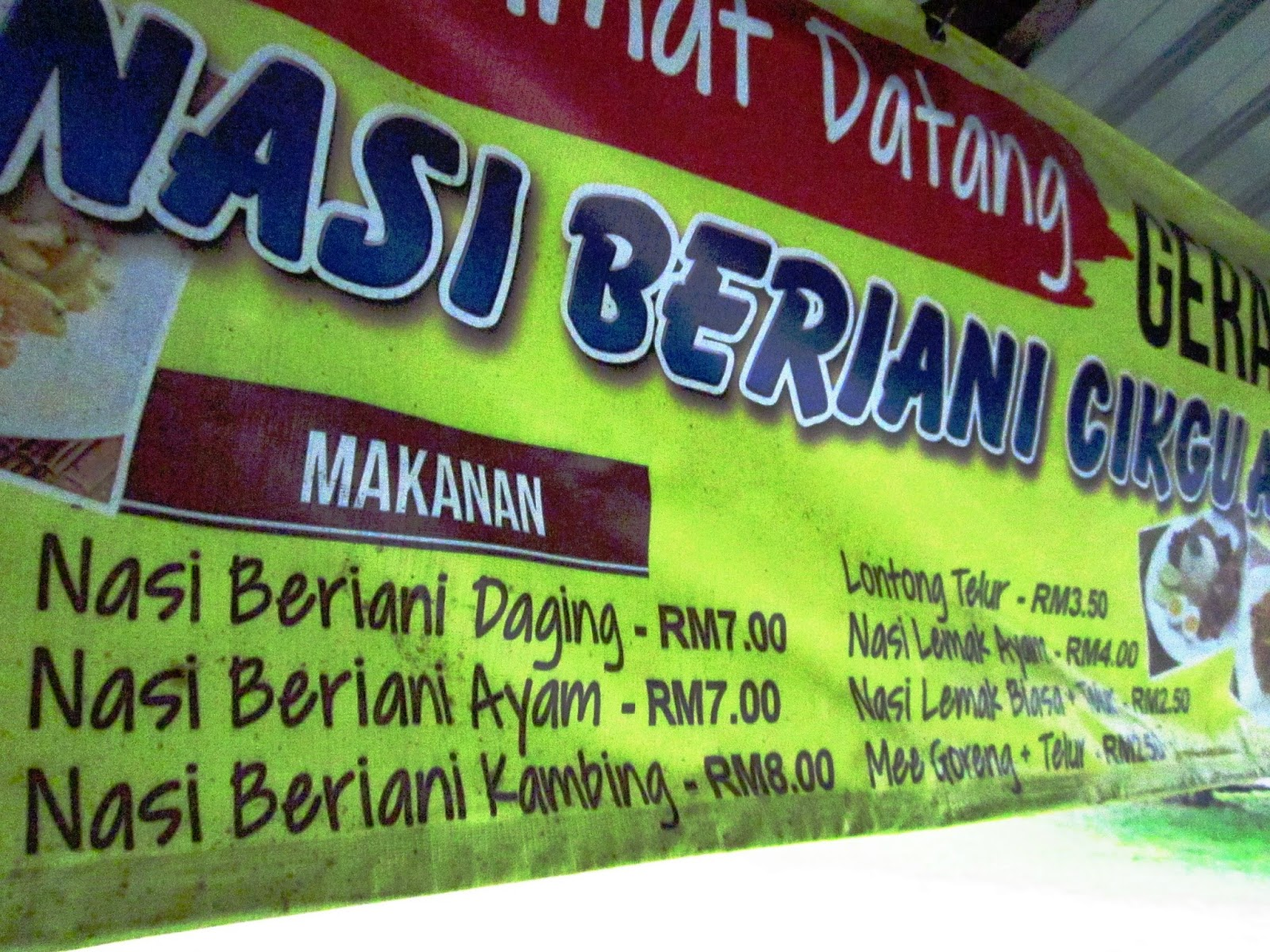 Nasi Beriani Cikgu Atan, Kampung Rambah, Pontian, Johor