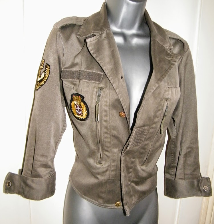 Military Jacket Refashion- AFTER
