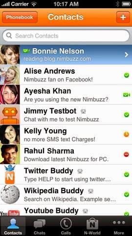 برنامج المكالمات الصوتية الجديد télécharger Nimbuzz-Messenger-1.