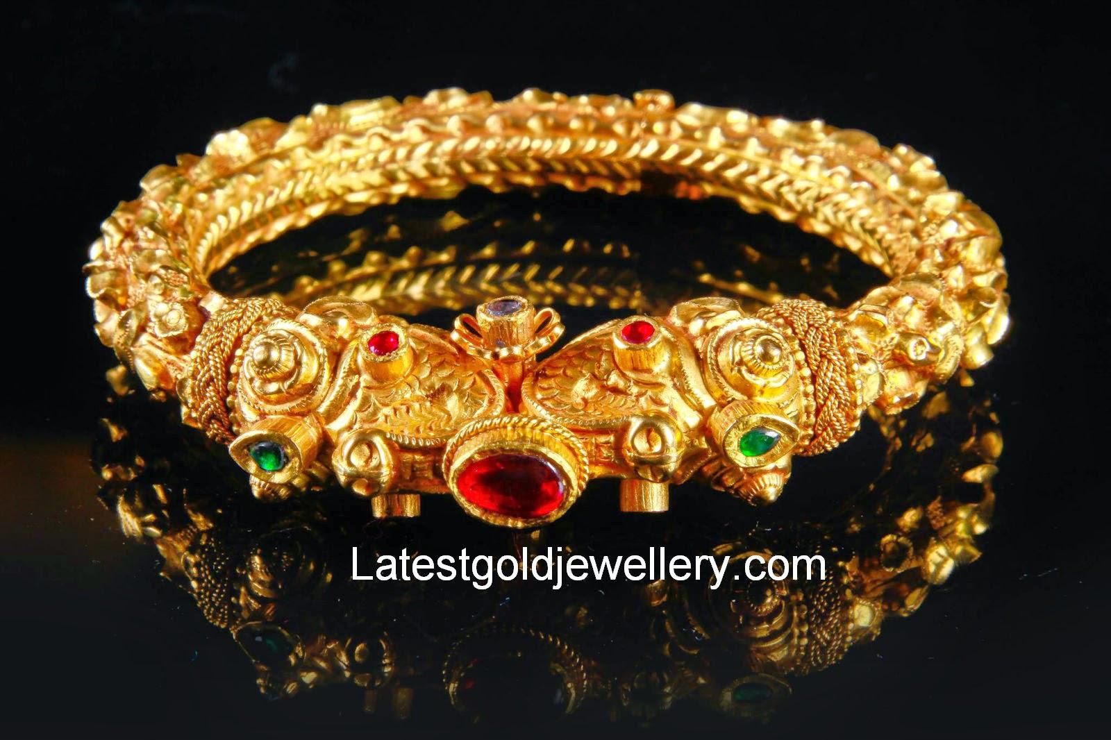 Traditional Nagas Kada | Latest Gold Jewellery Designs