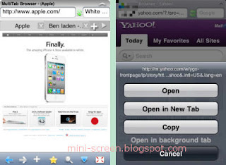 iBrowser Free App Interface on iPhone