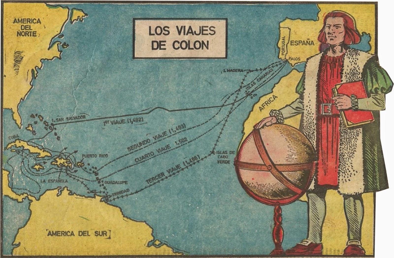 Los viajes de Cristobal Colón a las Américas