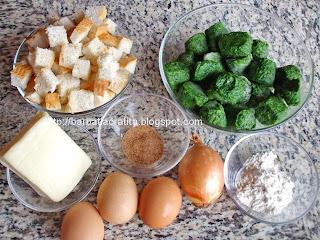 Budinca de spanac ingrediente reteta
