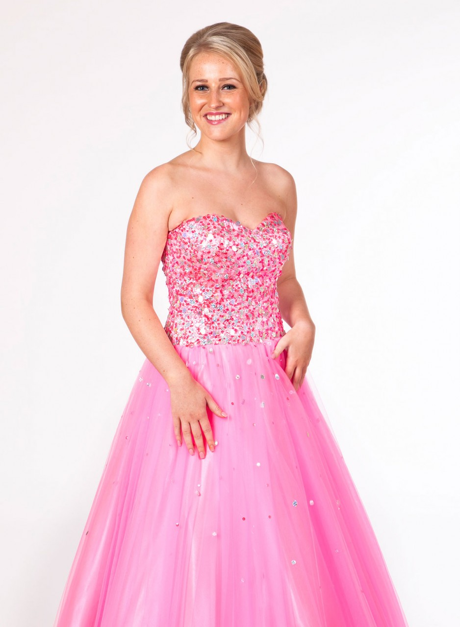 Pink Barbie Dress Pink prom dresses