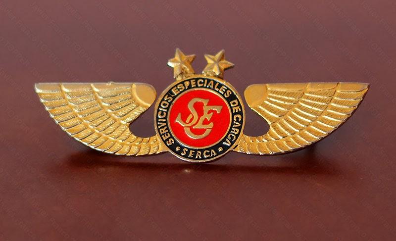 Broches o 'pin' de aviación - Servicios Especiales de Carga Aérea SERCA - Colombia