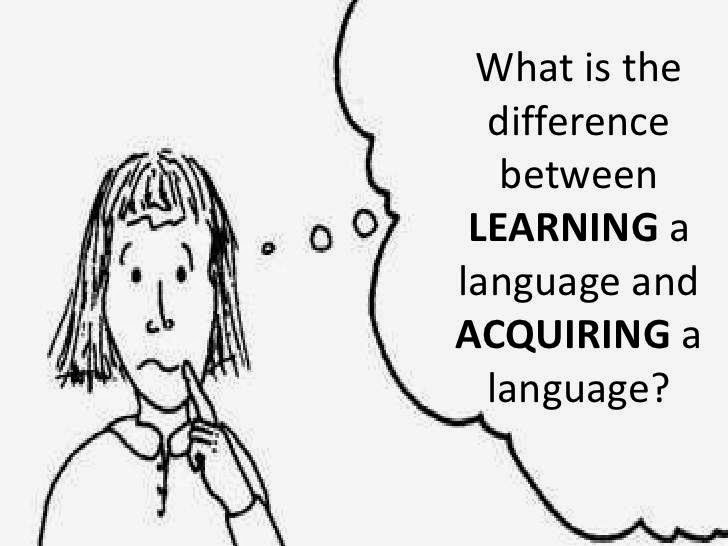 Learning And Acquisition, Language acquisition vs. language learning, Description of Krashen's Theory of Second Language Acquisition, ENGLISH PEDAGOGY Notes, CTET 2015 Exam Notes, TEACHING OF ENGLISH Study Material
