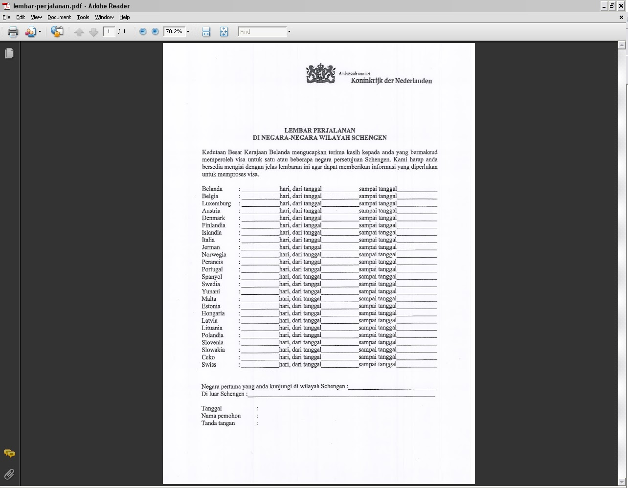 Travel Document More About Applying Schengen Visa In
