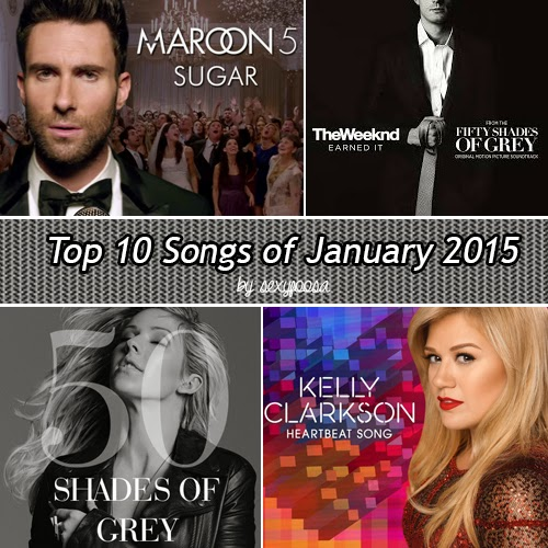 Top 10 Song List of January 2015 - Billboard Chart  pop songs, rnb, hip hop, alternative rock, house, train, soul