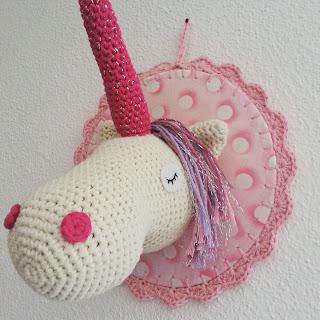 licorne trophée crochet