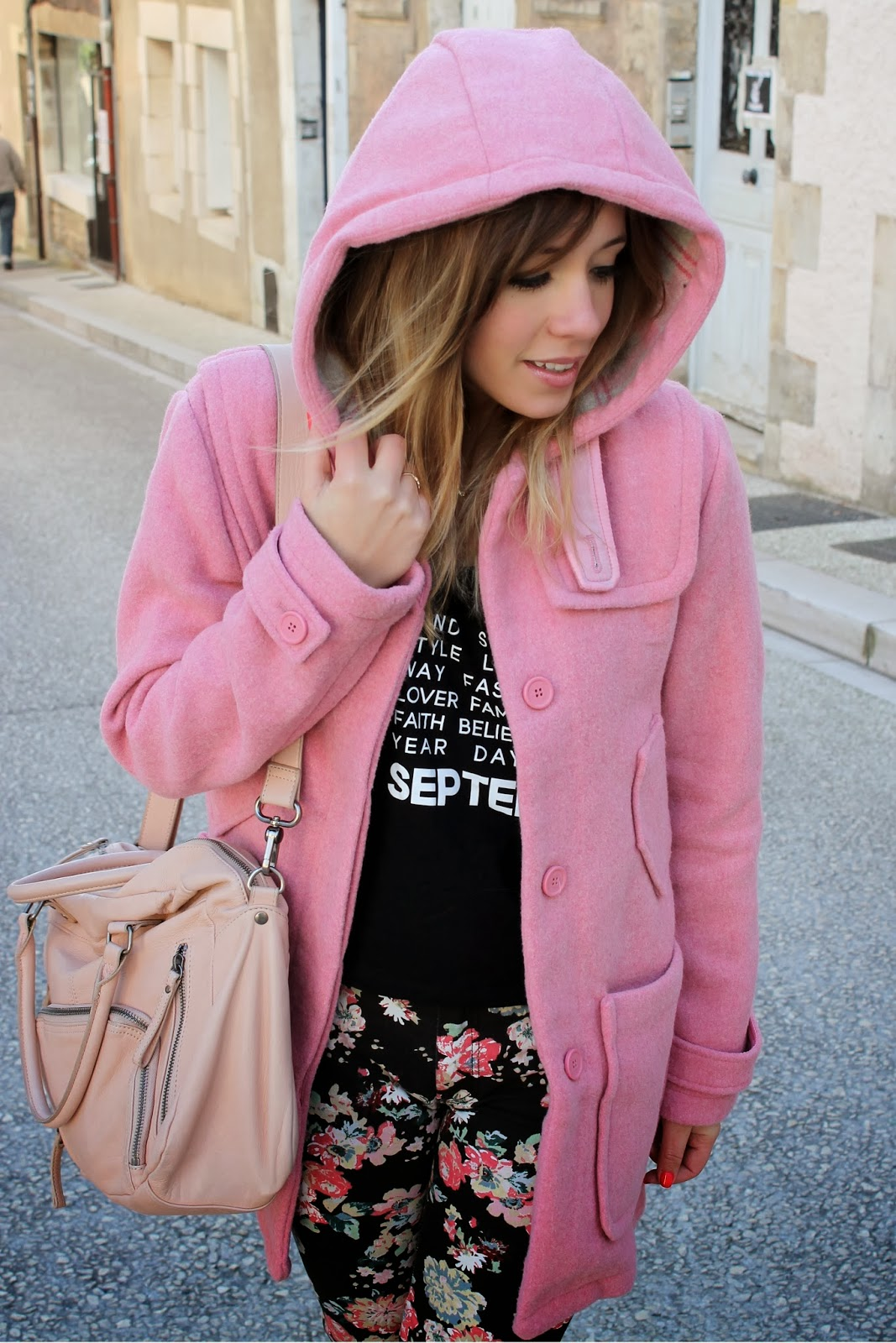 Manteau hiver tendance rose
