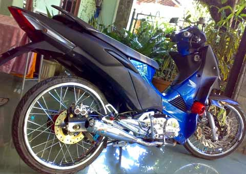 Modifikasi Supra X 125 Model Ceper