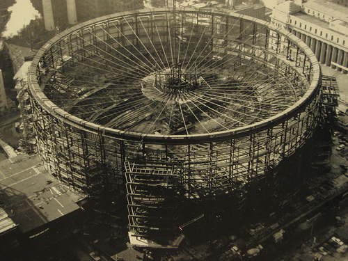 Madison Square Garden under construction in 1968