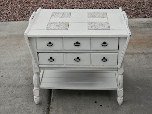 White Shabby Chic End Table  *SOLD*