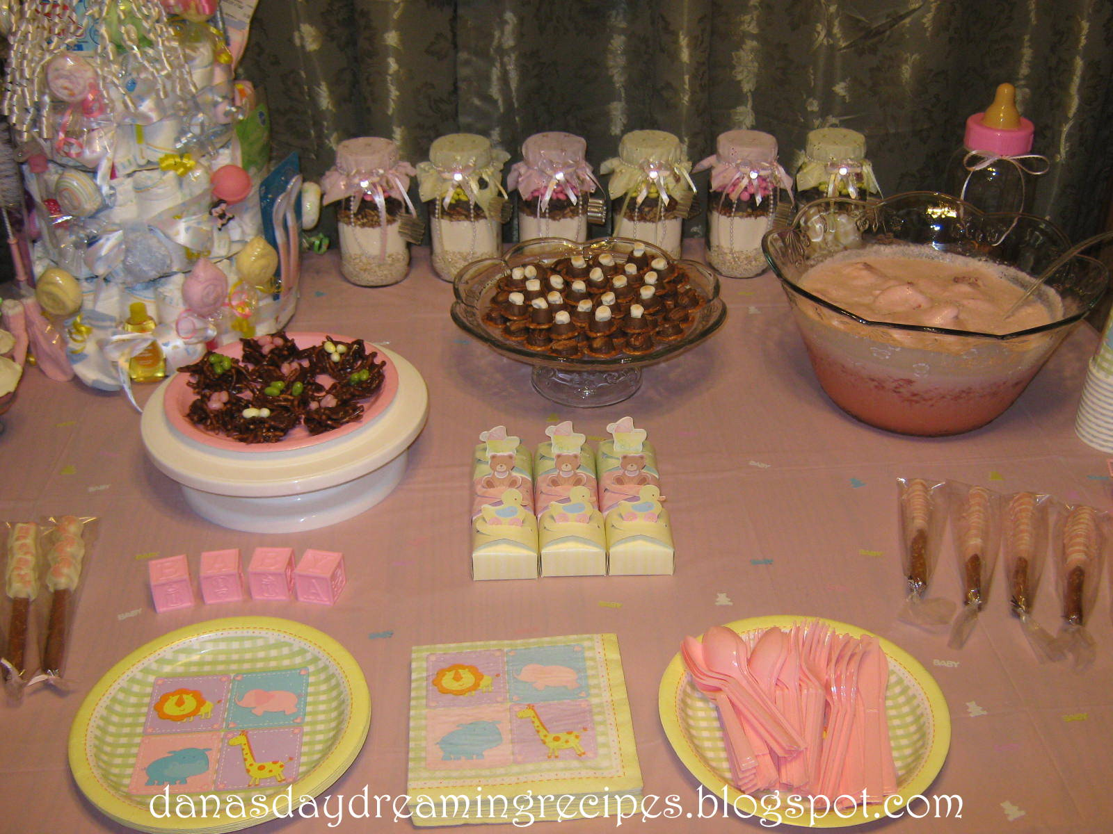 Ashleys Baby Shower The Refreshments Table
