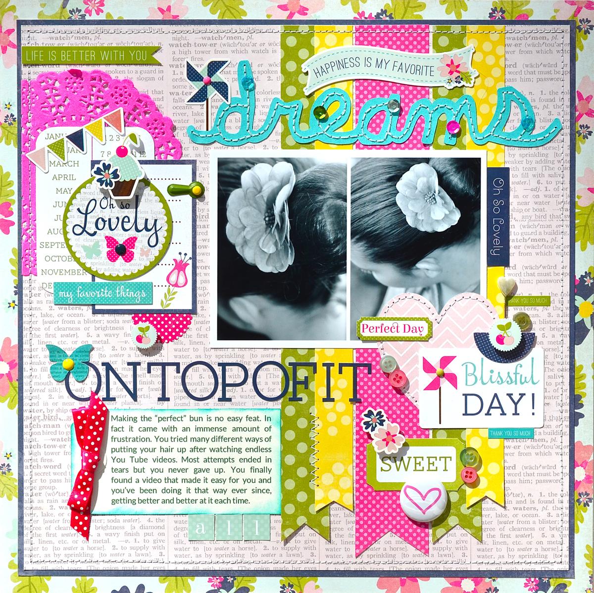 How to scrapbook magazines - On Top Of It All Echo Park Splendid Sunshine