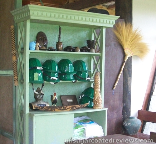 green helmets and collections at the Partoza Durian Farm