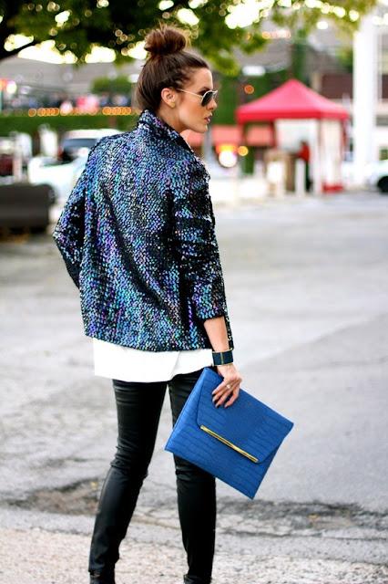 sequin blazer style