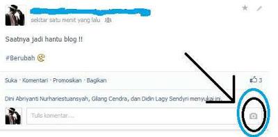 Menambahkan Photo Comment pada Status Fb