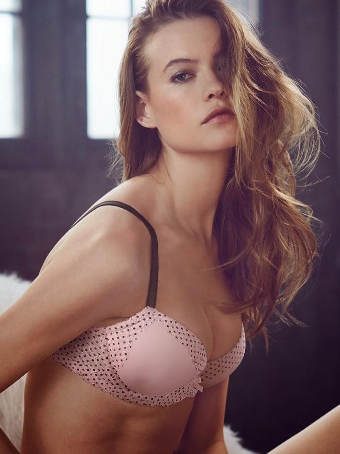 Behati Prinsloo poses in seductive lingerie designs for the Victoria's Secret July 2014 Lookbook