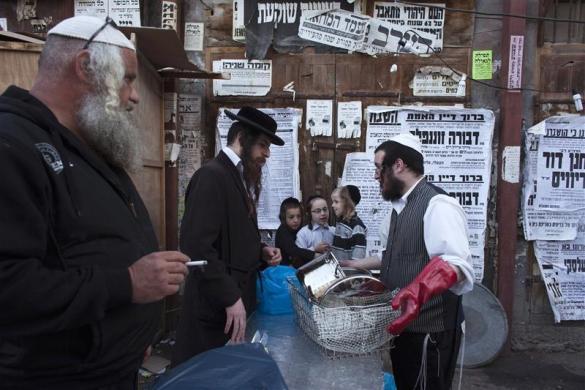 judios ultraortodoxos cocinando kosher
