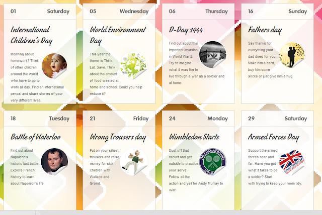 Downloadable Summer Events Calendar