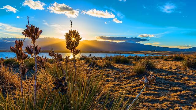 Sunset Bluestem Praire Colorado Springs HD Wallpaper