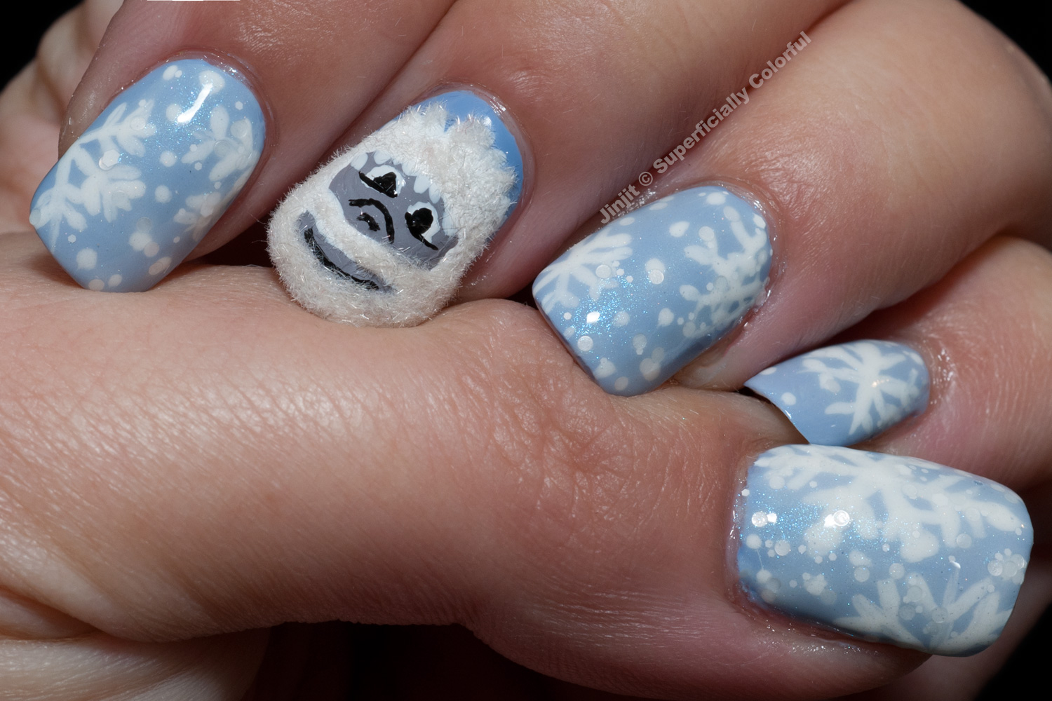 Yeti - Abominable Snowman Nail Art Tutorial